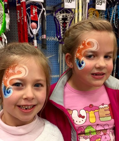 Denver Broncos Face Paint by Snappy Face Painting
