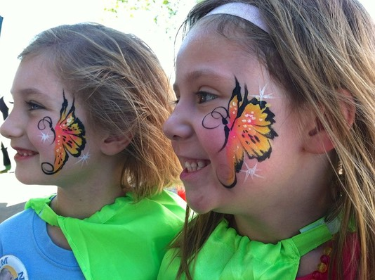 #butterfiy #face #paint #snappyfacepainting