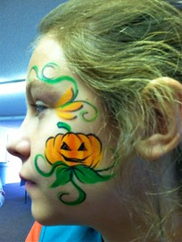 #halloween #pumpkin #face #paint #corporate #events #snappyfacepainting