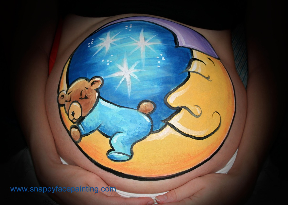 Moon and Bear Prenatal Belly