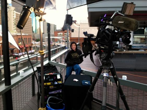 Face Painting Belen De Leon for 9news morning show   Denver